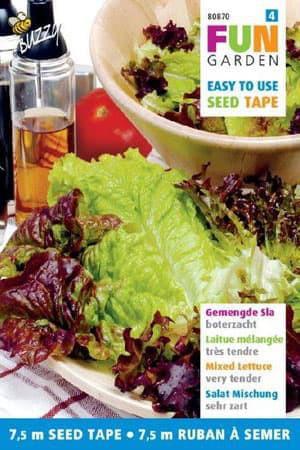 Rubans à semer : Laitue à couper en mélange