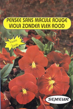 Semences de fleurs : Pensée Rouge sans macule