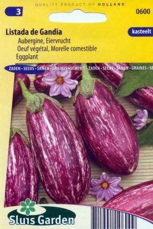 Semences potagères : Aubergine Listanda de Gandia