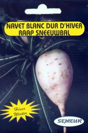 Semences potagères : Navet Blanc dur d'hiver