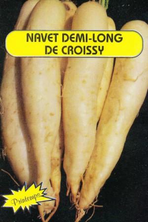 Semences potagères : Navet Demi-long de Croissy